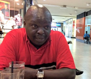 John Njoka speaks to the author at a popular mall in Nairobi